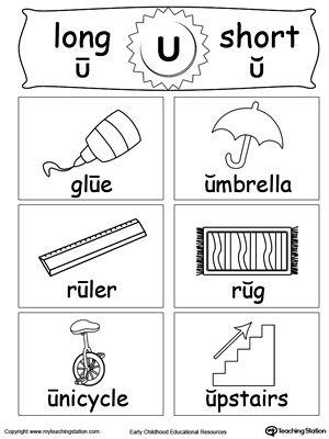Short And Long Vowel Flashcards U Vowel Worksheets Long Vowels Long Vowel Worksheets Short long vowel worksheets
