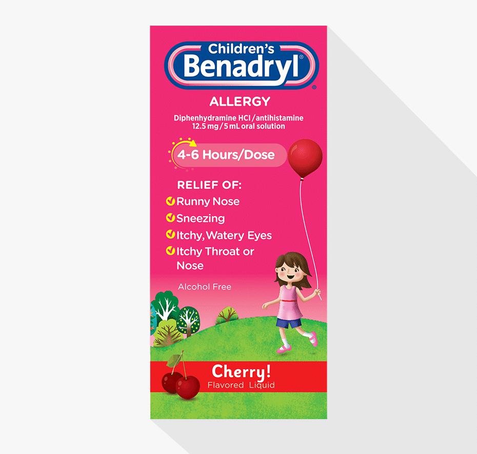 Children's BENADRYL® Allergy Allergies, Benadryl