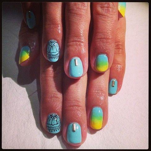 Summer Henna Ombre Nails by Raqstar87 - Nail Art Gallery nailartgallery.nailsmag.com by Nails Magazine www.nailsmag.com #nailart