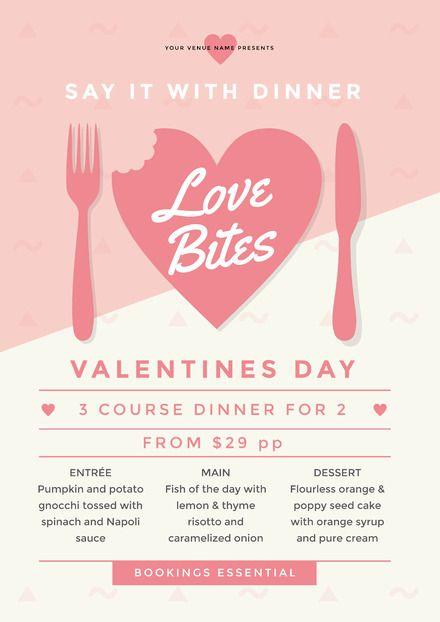 love bites valentines day template valentines day template diy valentines day posters and flyers - Valentines Posters