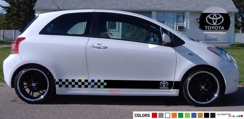 Sticker Stripe For Toyota Yaris Vitz Light Bumber Light