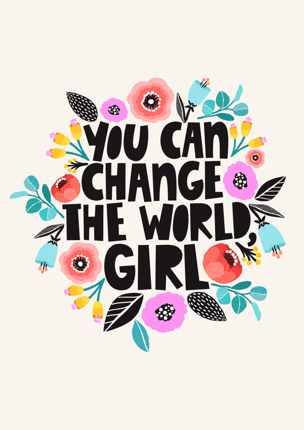 Above Bed Print Quote Girl Power Print Feminist Poster Art Print Woman Poster Strong Female Art Empowered Quote Prints Women Poster Posters Art Prints