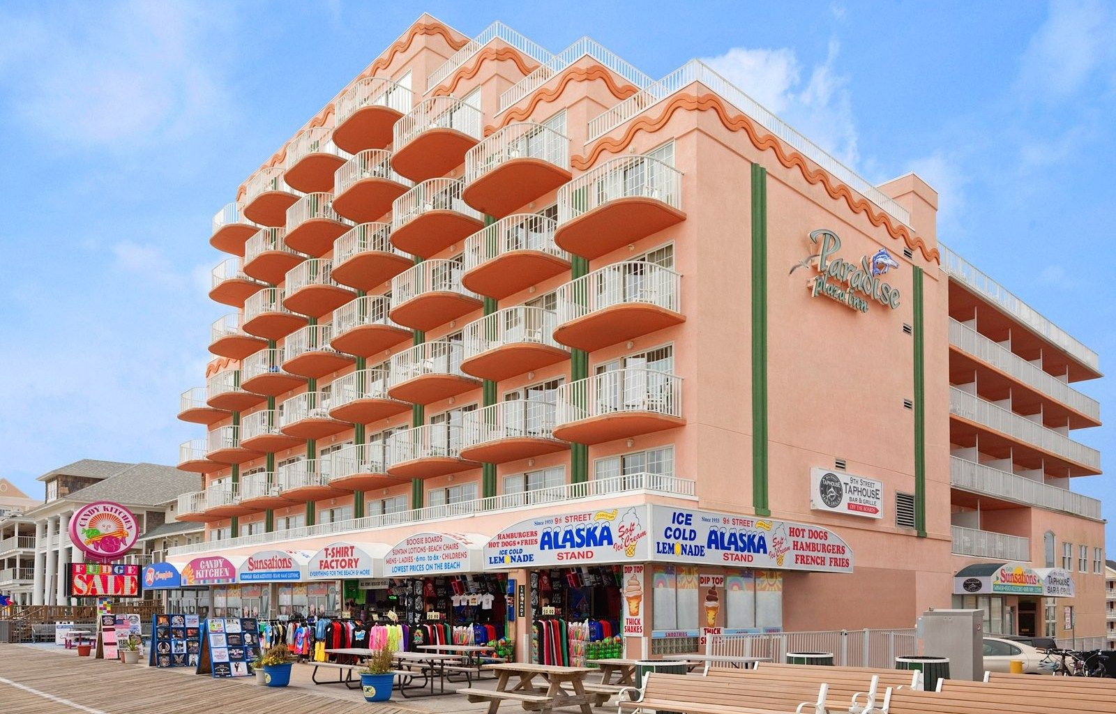 Paradise Plaza Inn, 9th st & the boards, ocean city, md 21842