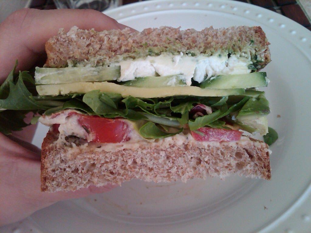 My absolute favorite veggie sandwich