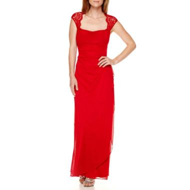 4d3972c097 Scarlett Sleeveless Lace-Shoulder Gown found at  JCPenney