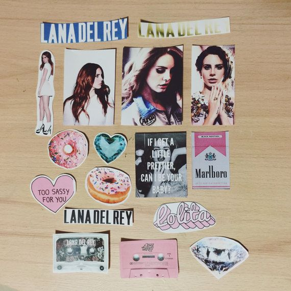 Lana Del Rey Sticker Set by vihanestore on Etsy