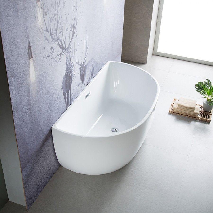 Baignoire Ceramique Pas Cher baignoire ilot murale en acrylique 150 cm - bella en 2020
