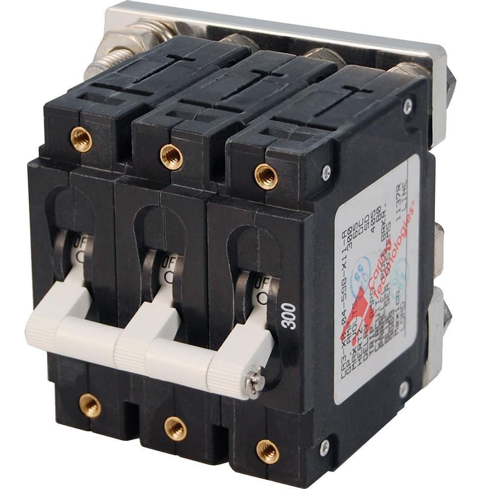 Blue Sea 7271 300a C Series Triple Pole Toggle Dc Circuit Breaker 7271 Dc Circuit Circuit Blue