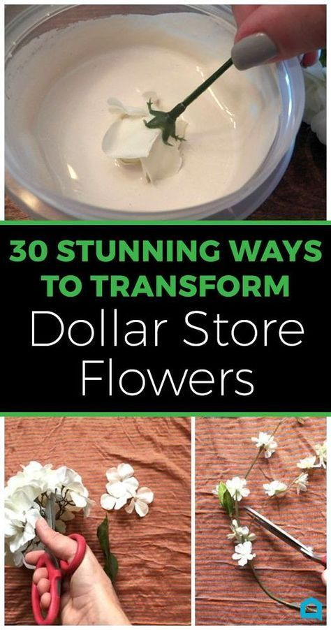 30 Mesmerizing Ways To Decorate Your Home With Artificial Flowers from the Dolla… #dollarstores