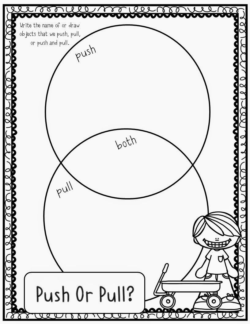 worksheet Push And Pull Worksheets For Kindergarten mrs mcginnis little zizzers force and motion pushes pulls pulls
