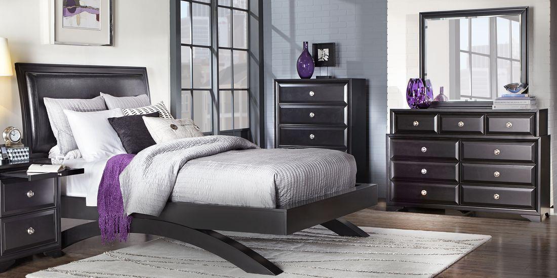 Belcourt Black 5 Pc King Platform Bedroom - Rooms To Go ...
