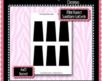 New Mini Hand Sanitizer Label Template Instant Download Psd Card Making Embellishments Label Templates Collage Sheet