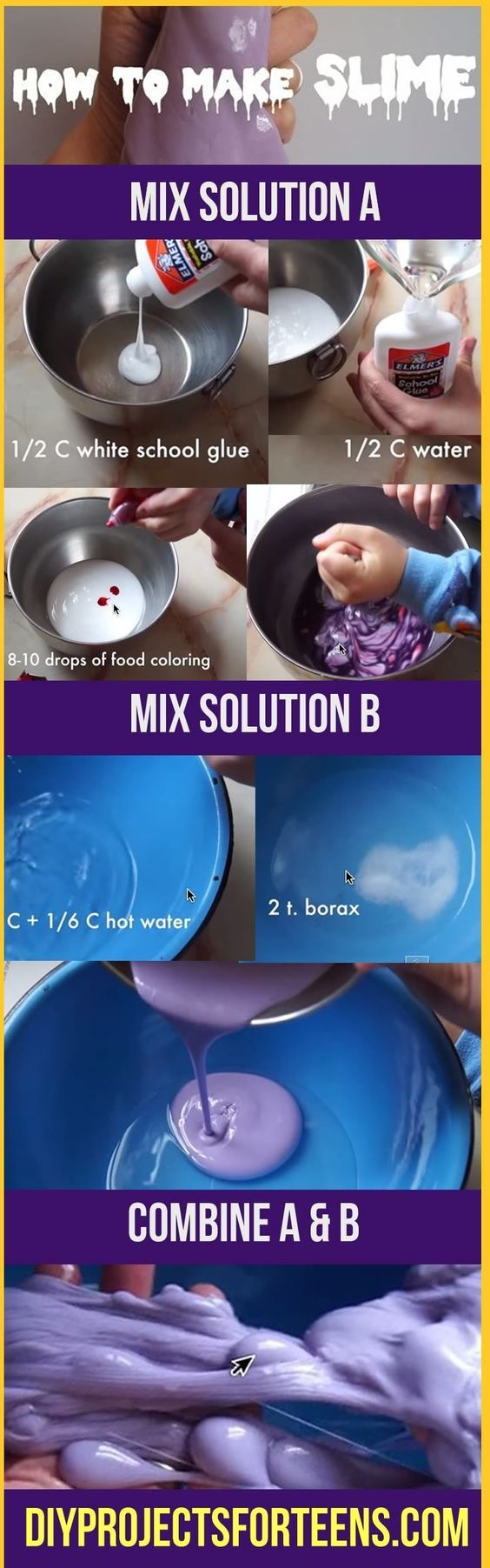 Fun Diy Projects  How To Make Slime Tutorial  Cool Crafts Ideas For Teens  And