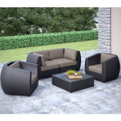 Fabulous Outdoor Corliving Seattle Curved Sofa Conversation Set Pps Home Interior And Landscaping Synyenasavecom