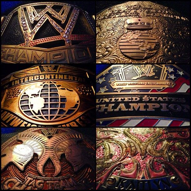 All WWE  Championship gold