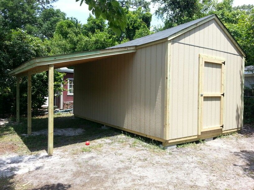Storage shed with carport Storage shed with