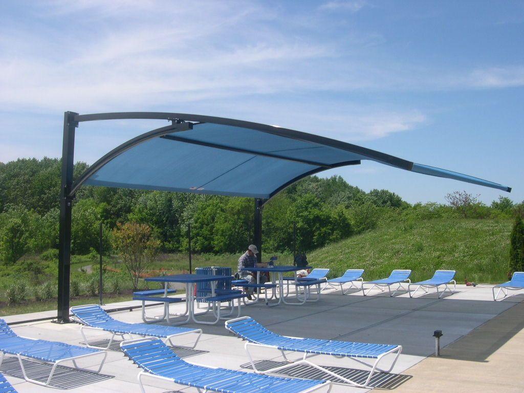 Parasol para piscinau p rgolas para piscina pinterest for Pergolas para piscinas