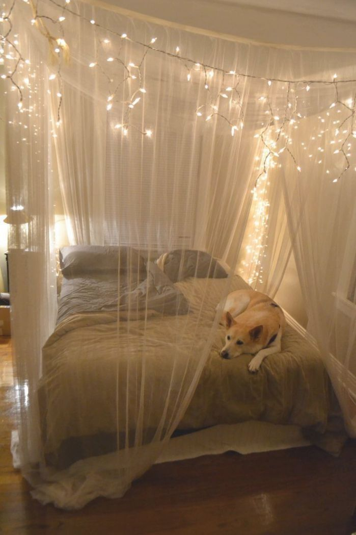 Queen Canopy Bed Curtains Check More At Http Www Beatorchard Com Queen Canopy Bed Curtains Canopy Bed Diy Romantic Bedroom Bedroom Crafts