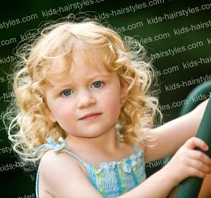 Curly Hairstyles For Little Girls With Medium Length Hair