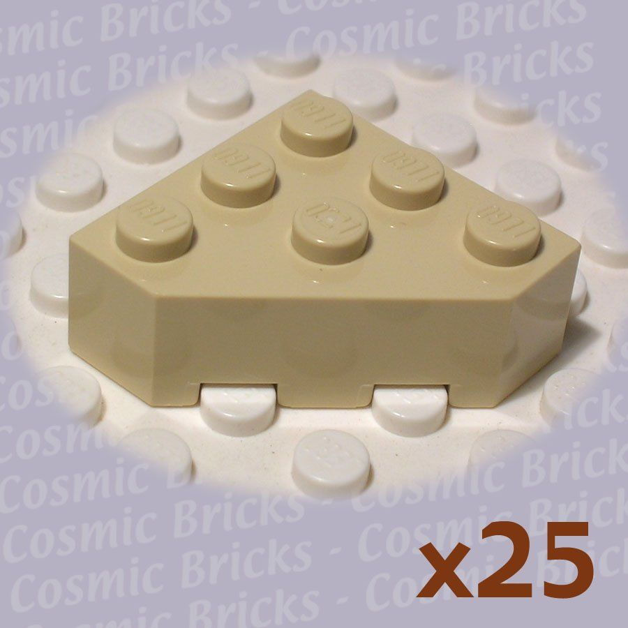 Lego Dark Tan Plate 3x3 Cut Corner 10 pieces NEW!!!
