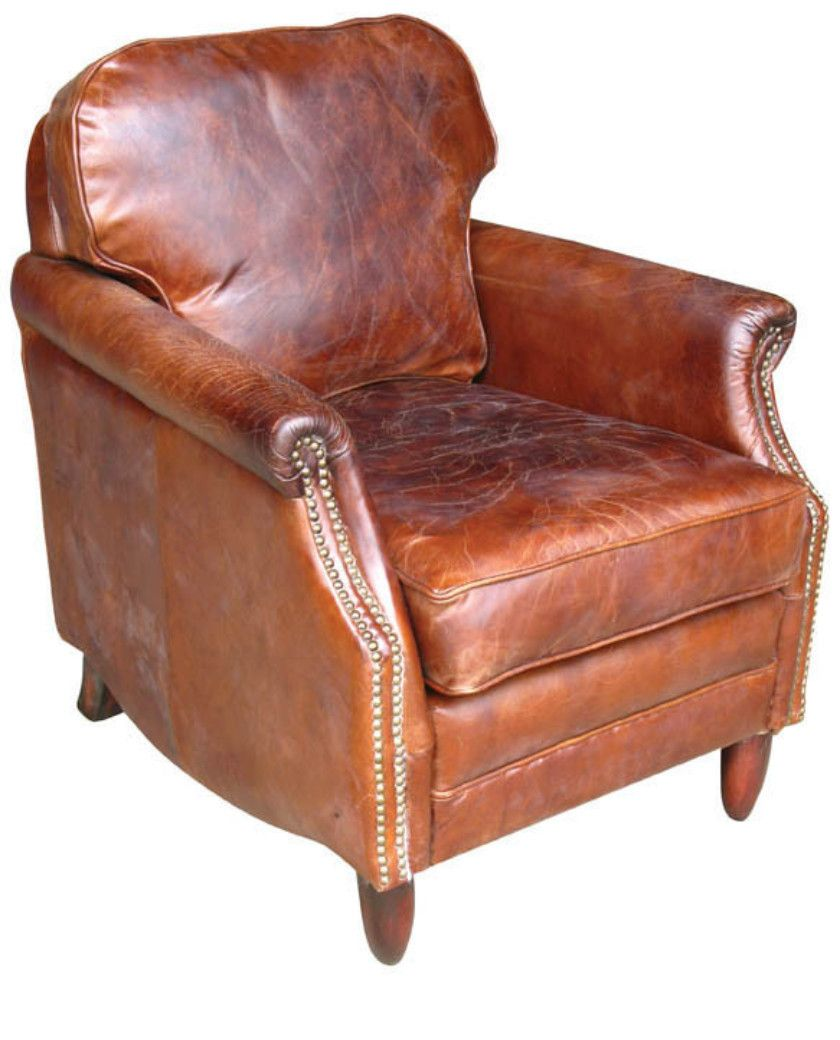vintage leather library armchair allissias attic vintage french