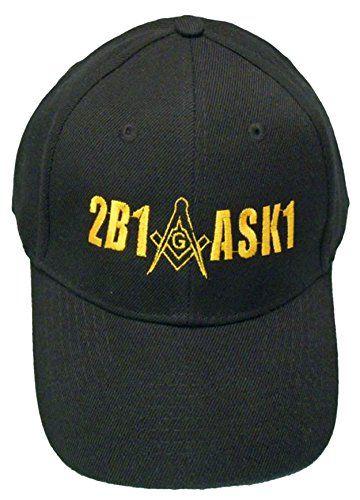 Buy Caps and Hats Masonic 2B1 ASK1 Baseball Cap Freemason Hat Mens One Size  Black Buy bd54d619b129