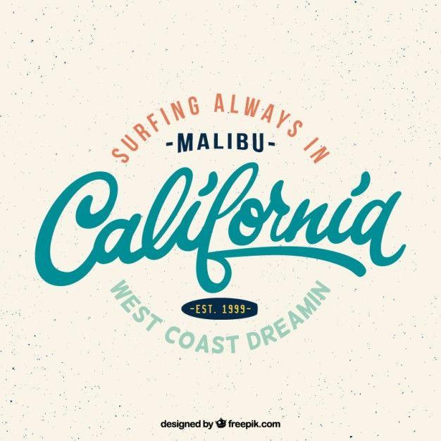Emblema Da Ressaca De Califórnia Vintage | Surf | Surf logo