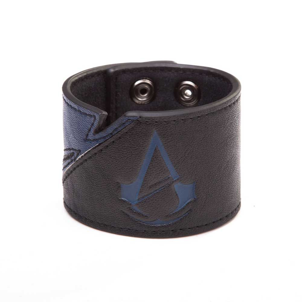 Assassinus creed unity armpolsband met blauw logo zwart games