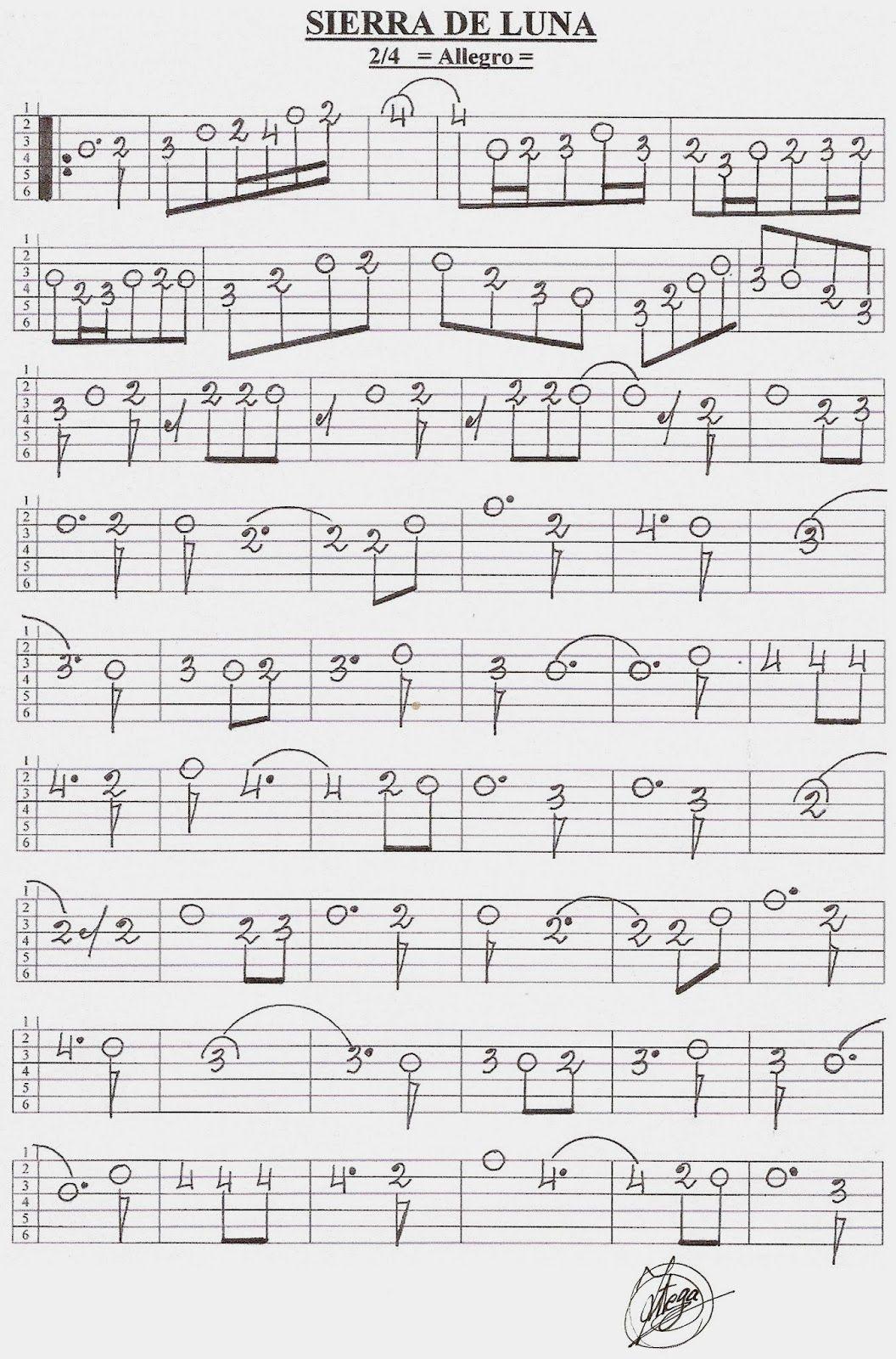 Partituras En Cifra Para Bandurria Y Laúd De José Ortega Laserna Enero 2014 Partituras Hojas De Música Guitarra Partituras