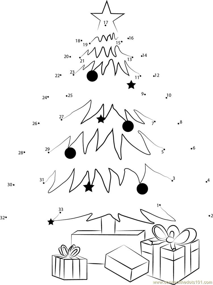 Christmas Tree Decorating And Gifts Connect Dots Christmas Tree Decorations Tree Decorations Dots