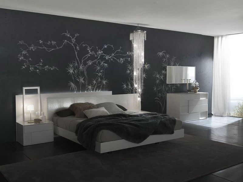 Amazing modern grey bedroom interior paint ideas