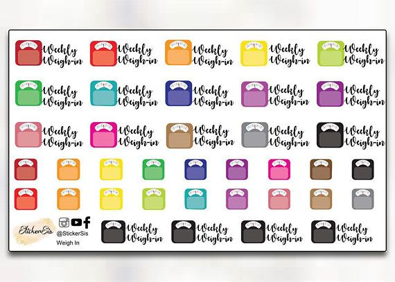 Glossy Listing Planners//Diaries//Scrapbooking Icon Stickers