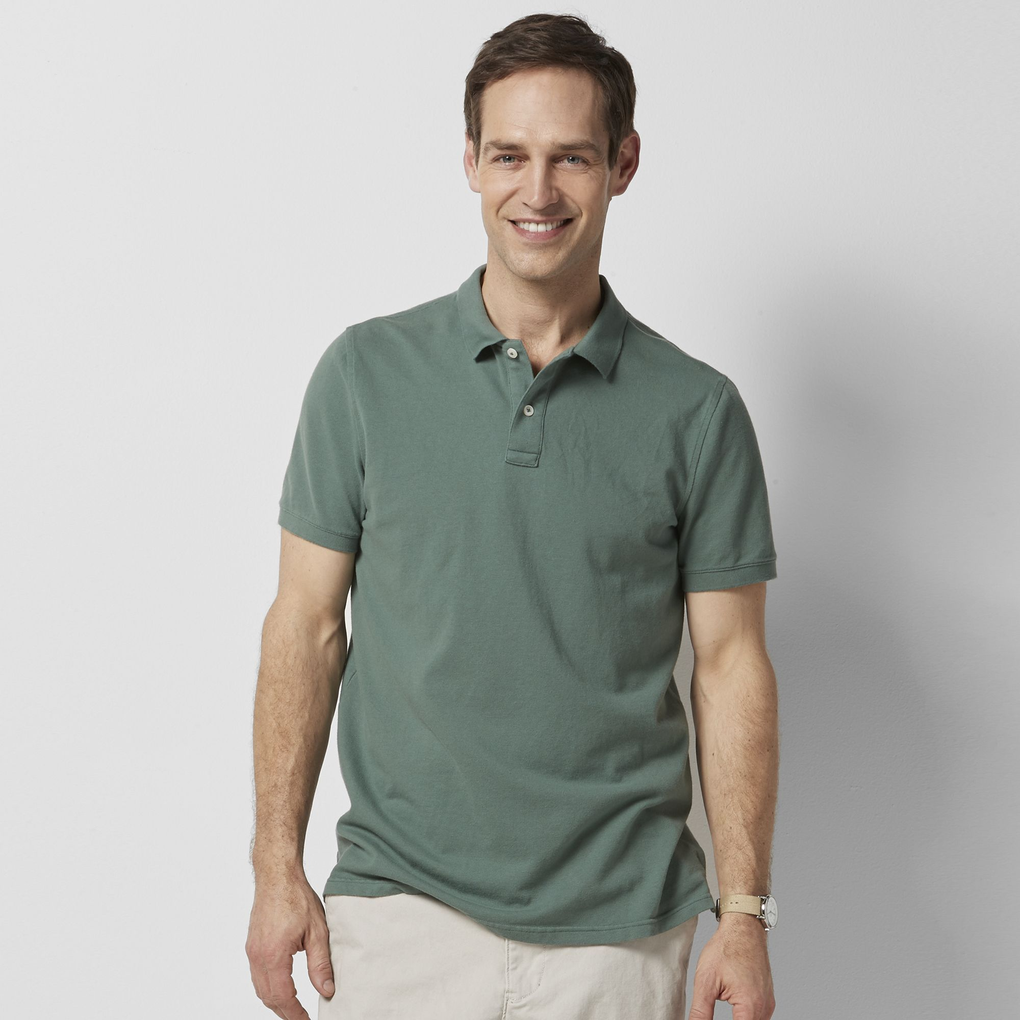 "Big & Tall SONOMA Goods for Lifeâ""¢ Flexwear Classic-Fit Pique Polo ..."