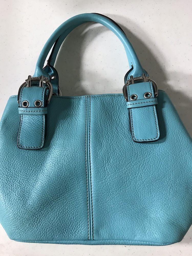 a45635a554 TIGNANELLO TEAL BLUE GREEN Small HANDBAG PURSE - Green Handbag - Green  handbag ideas  greenhandbag