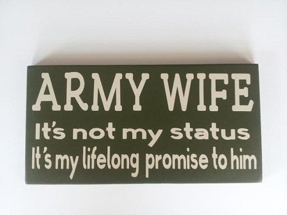 Army Wife it's not my status it's my by ForeverYoursCreation, $13.95