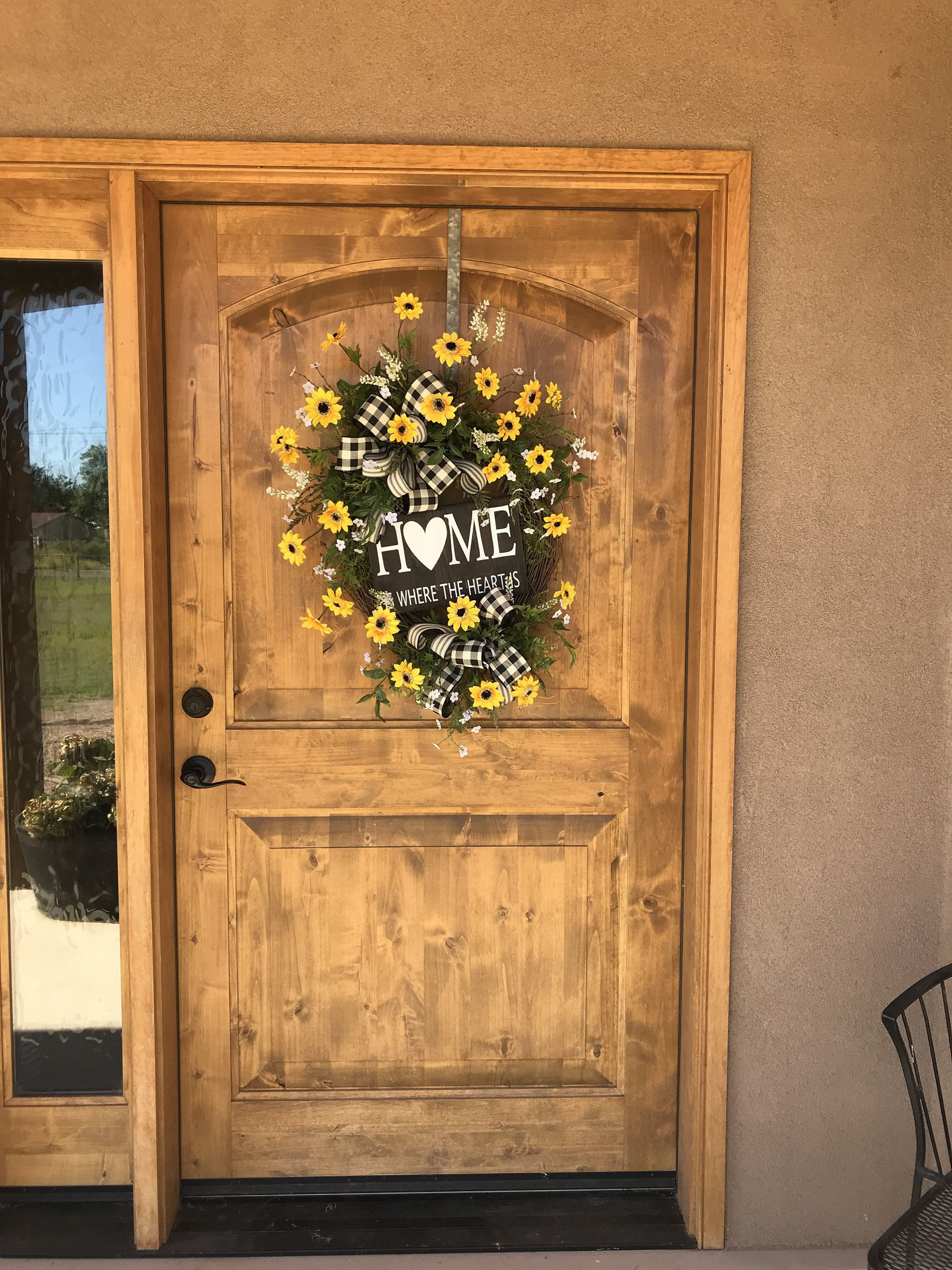Photo of Spring sunflower wreath, summer sunflower wreath, year-round sunflower wreath, Mother's Day gift wreath, wreath for the front door