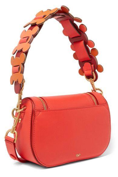 Anya Hindmarch - Vere Circulus Mini Leather Shoulder Bag - Red ... b19ce6dbd1b17