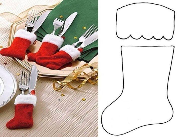 Almofada Com Molde Cutlery Holder Stockings And Natal