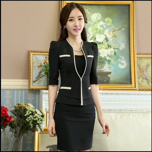 custom high quality chantilly and elegant new style office dress ...