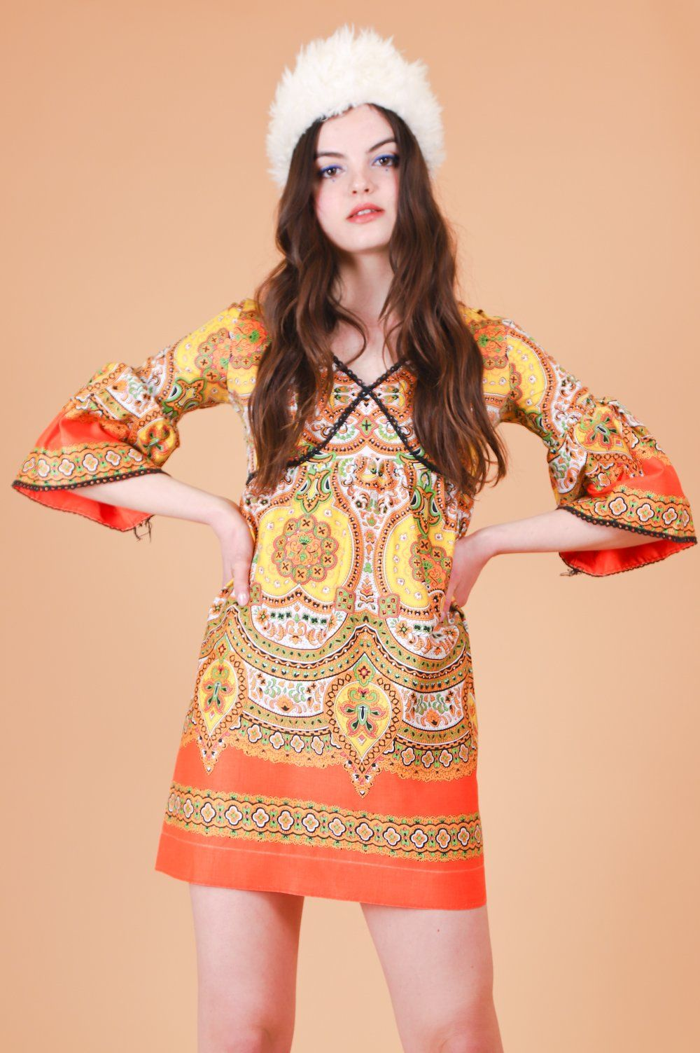 bea52bc9259 Vintage 1970 s Janis Paisley Mini-Dress – Miracle Eye