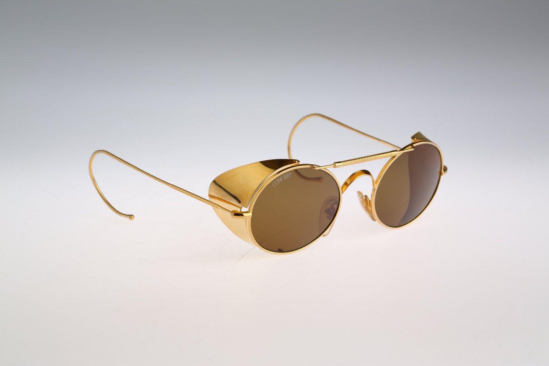 3cc34b0b3566f Concert   Vintage sunglasses   NOS   90s Rare steampunk side shields  designer eyewear by CarettaVintage on Etsy