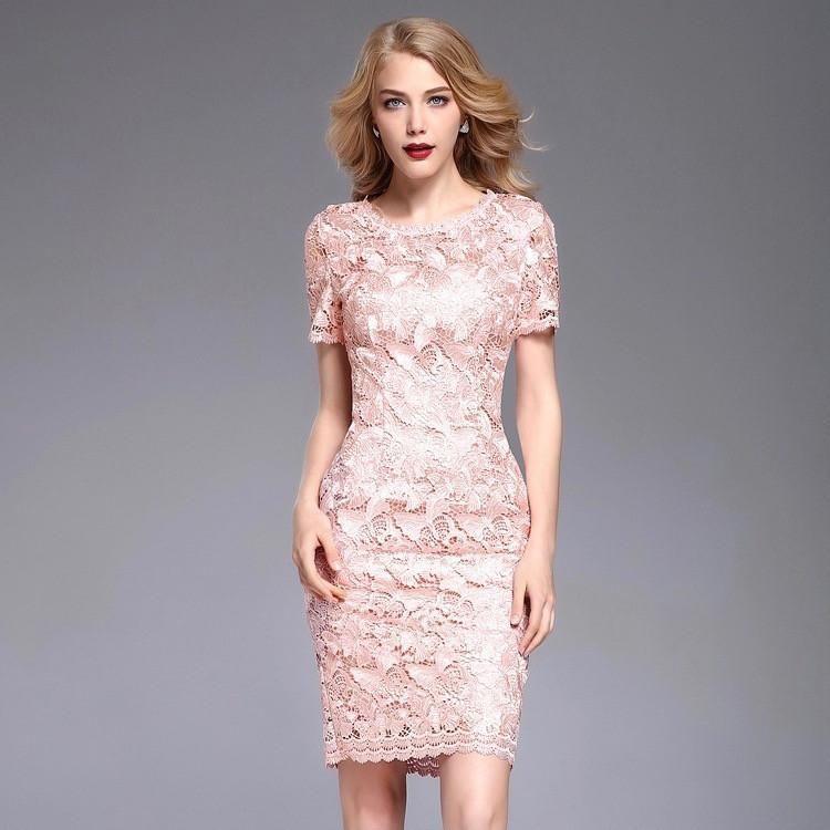 97d1d9009dfb This stylish dress features  - Round neckline