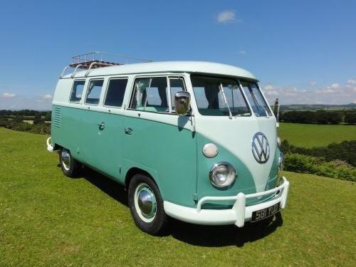 Mint camper van. wedding car?