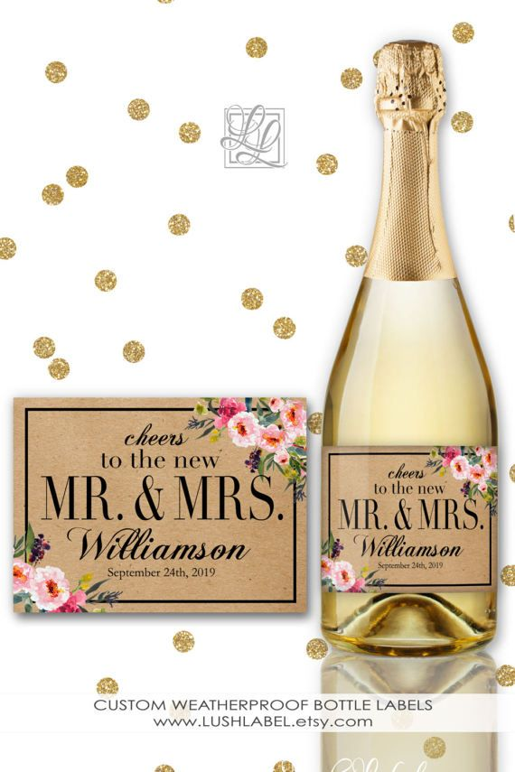 Cheers to the New future Mr and Mrs Wine Champagne Mini Toast New ...