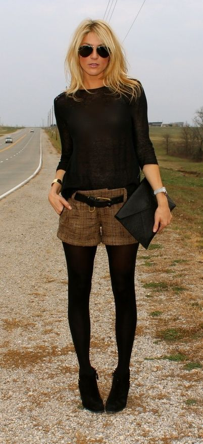 7bce8f4d729e How to Wear Your Shorts in Cold Weather   Cozy sweater time   Outfit ...