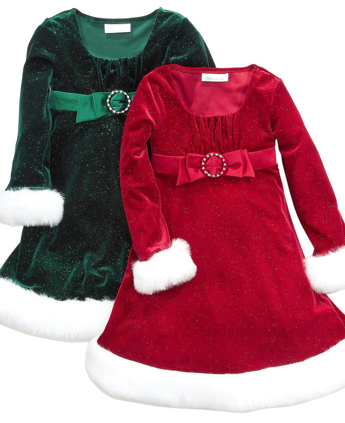 Bonnie jean girls dress girls santa dress kids girls