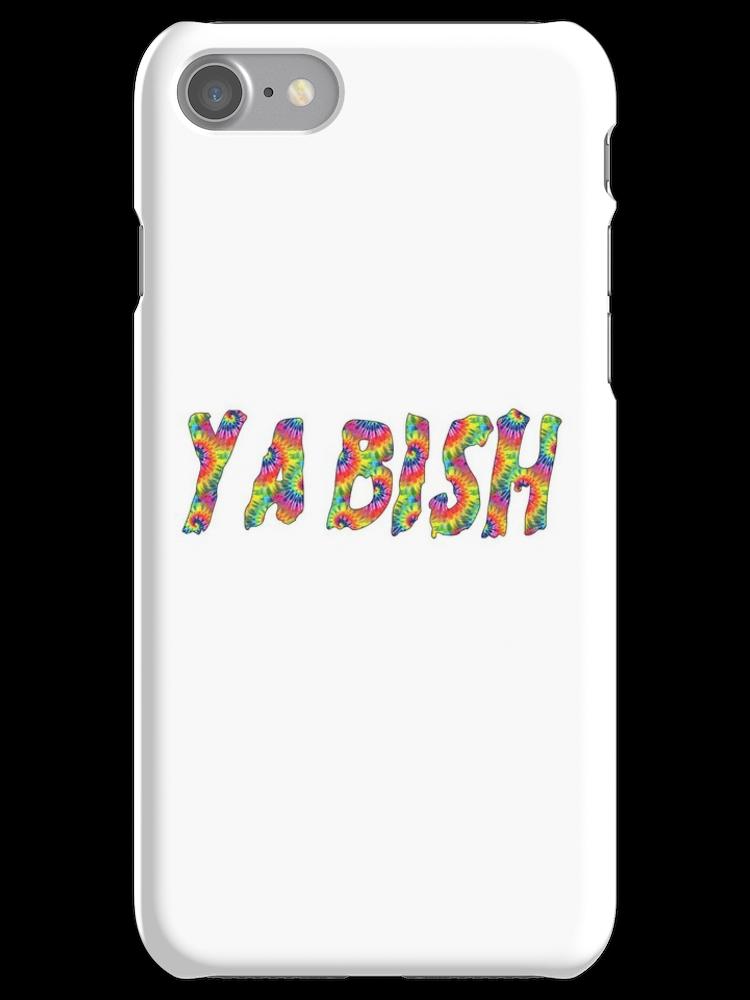 YA BISH TYPOGRAPHY iphone case