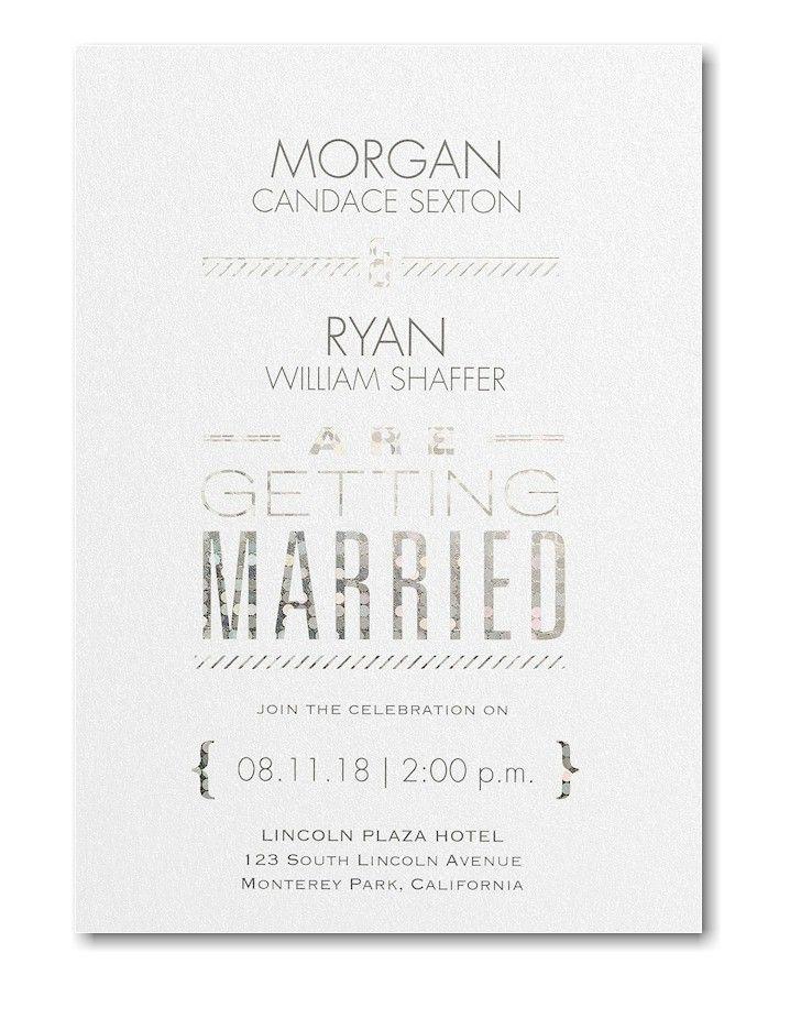 Glimmer Shimmer Wedding Invitation Shimmer Wedding Invitations