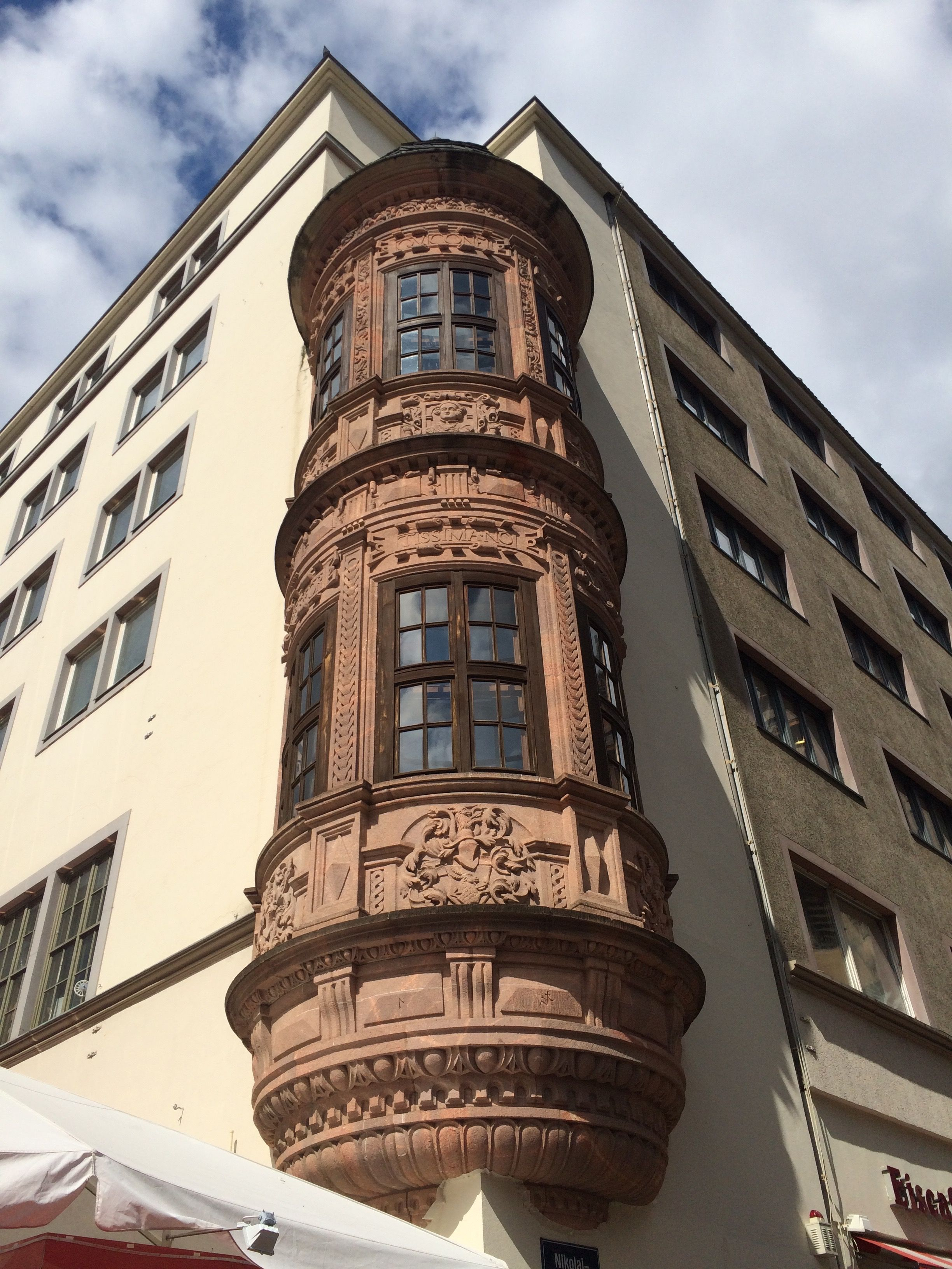 """""""Renaissance Corner Window"""", Grimmaische Strasse, Leipzig, Germany"""
