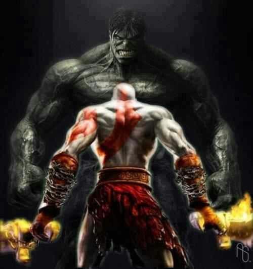 Hulk vs Kronos God of War